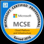 MCSE: Cloud Platform and Infrastructure — Certified 2016