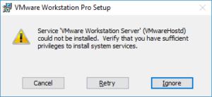 VMware Update Fehler